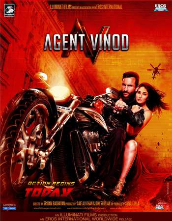 Poster Of Agent Vinod 2012 Hindi 650MB HDRip 720p ESubs HEVC Watch Online Free Download downloadhub.in