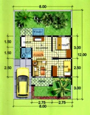 gambar denah rumah   design rumah minimalis