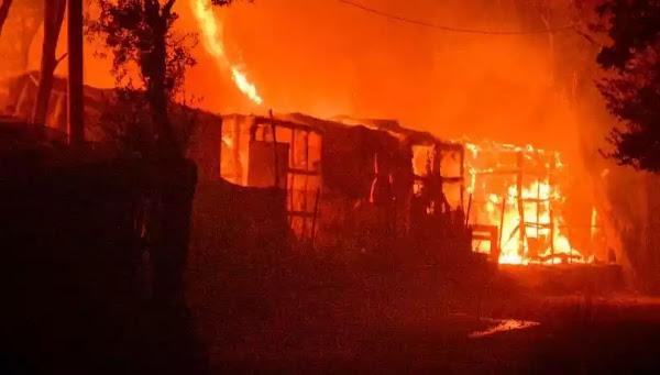 Δείτε πως έβαλαν τις φωτιές  στη Μόρια  (video)