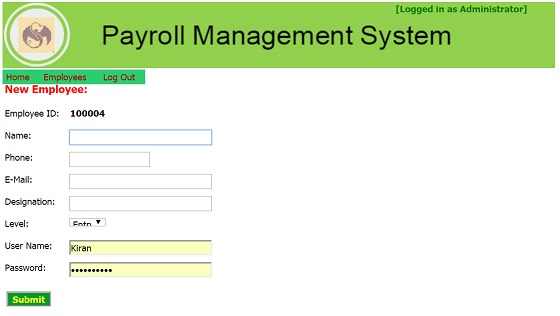 Payroll management system database | ASP net | Free Download Now