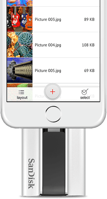 SanDisk iXpand - MUST Have Travel Accessory for your iPhone - easily free up space on your iPhone/iPad. You can also play music and videos  directly from the iXpand app. No need to store them on the iPhone. LIFE CHANGING!