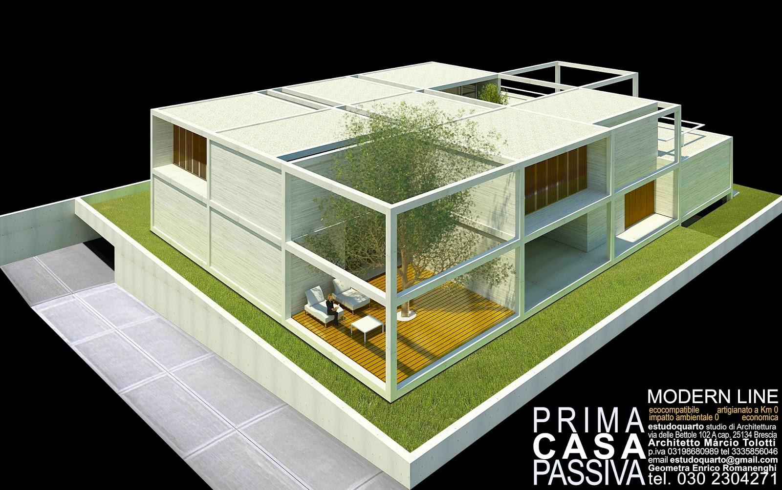 Prima casa passiva modern line studio di architettura a for Piani di casa passivi