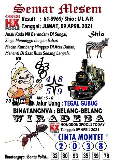 Syair Semar Mesem HK Jumat 09 April 2021