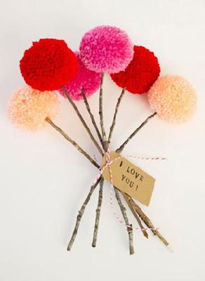 bouquet de pompons inspiration decoration mariage blog mariage un jour mon prince viendra 26