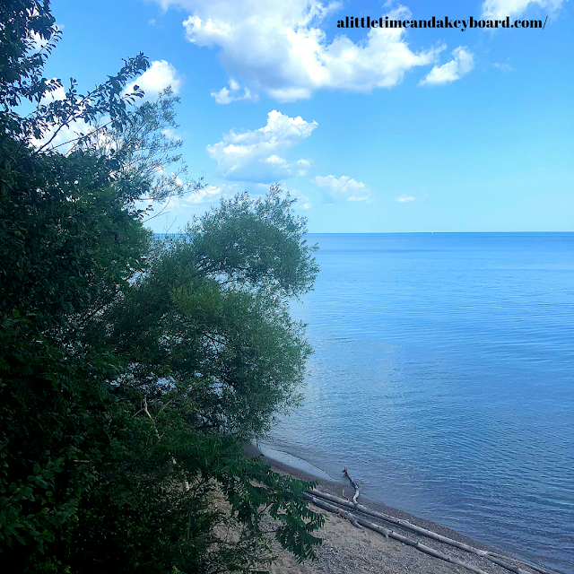 View of Lake Michigan from Schlitz Audubon Center in Milwaukee, Wisconsin