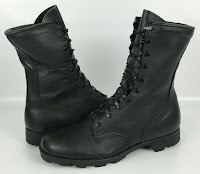 Men's Vintage Ro-Search 9-89 Black Leather Military Combat Boots Size 11.5 R