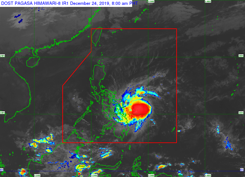 Satellite image of Severe Tropical Storm 'Ursula'