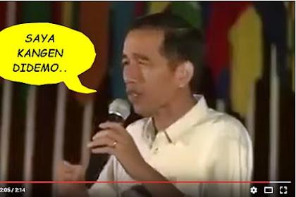 Kembali Viral, Rekaman Video Jokowi Kangen Didemo