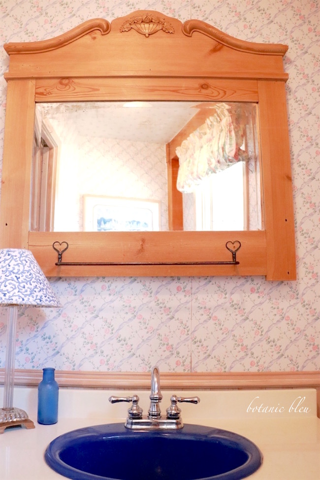antique-pine-washstand-mirror