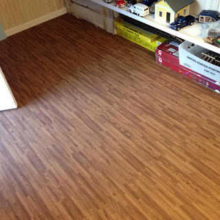 Greatmats wood grain foam tiles installed