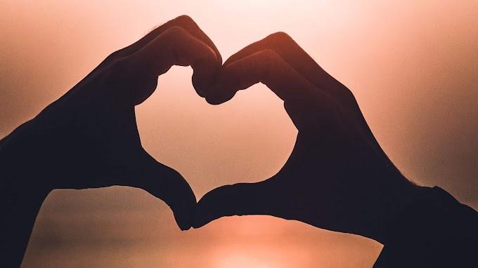 Coração, Mãos, Amor, Pôr Do Sol
