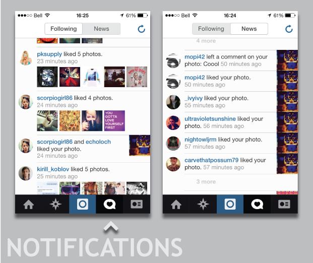 social media, following, users, alerts, notifications