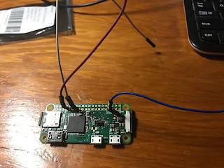 Pi Zero wired up
