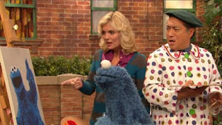 Gina, Cookie Monster, Alan, Sesame Street Episode 4407 Still Life With Cookie season 44