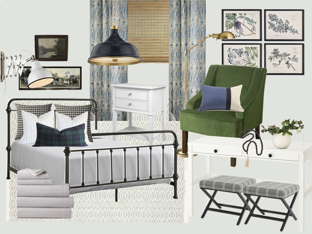 guest bedroom remodel, guest bedroom design plan, one room challenge guest bedroom, vintage masculine bedroom