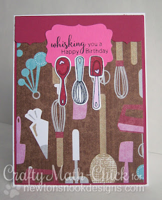 Whisking you a happy birthday card by Crafty Math Chick | Made From Scratch by Newton's Nook Designs