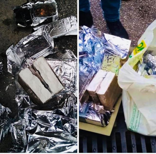 بالصور..إجهاض عملية تهريب 25 كيلوغراما و500 غرام من مخدر الكوكايين على متن شاحنة للنقل الدولي✍️👇👇