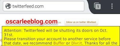 When will Twitterfeed shut down