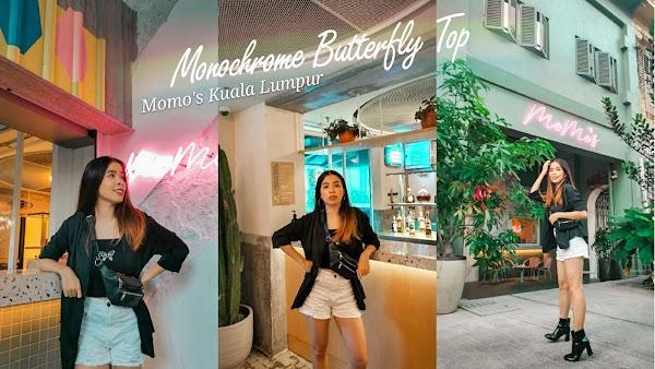 Monochrome Butterfly Top at Momo's Kuala Lumpur