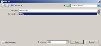 Tạo file .reg để import vào Registry windows