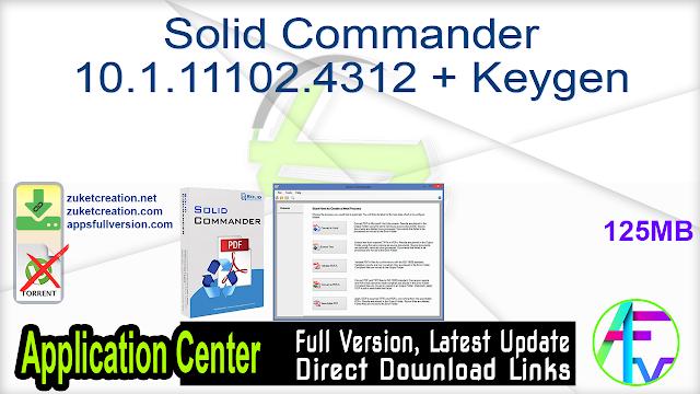 Solid Commander 10.1.11102.4312 + Keygen