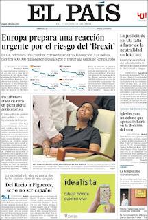 Portada de El País.