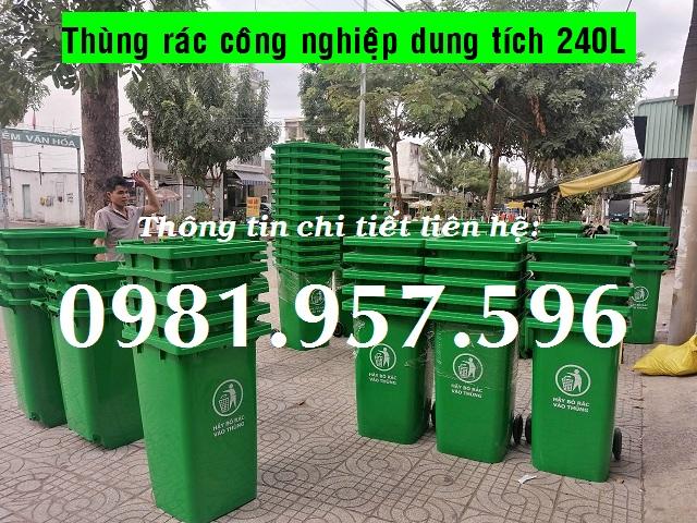 Thùng rác ngoài trời, thùng rác công cộng, thùng rác 240L