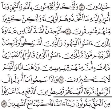 Tafsir Surat Al-Maidah Ayat 81, 82, 83, 84, 85