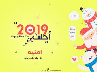 صور العام الجديد 2019 احلى مع امنيه