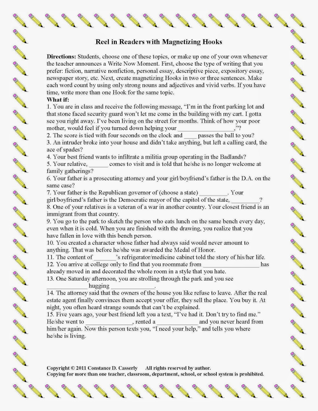 4th Grade Writing Hooks And Grabbers How To Write An