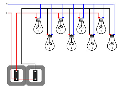 Cara memasang lampu hemat energi, dengan cara hidup bergantian