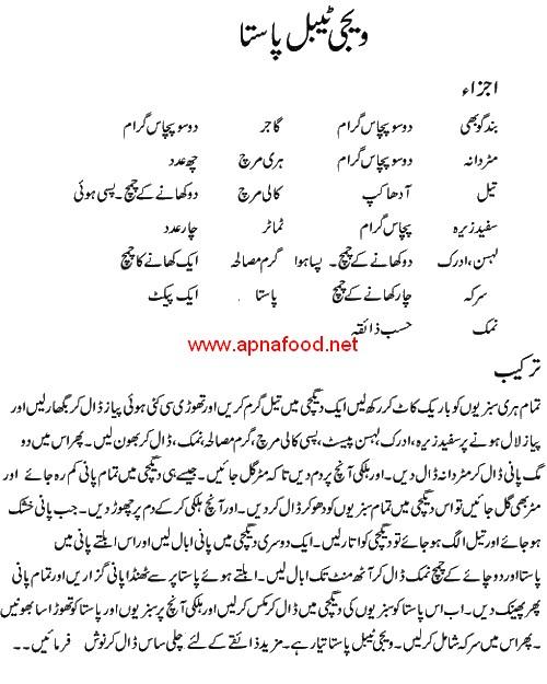 Simple And Easy Vegetable Pasta Recipe In Urdu