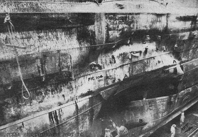 Damage to USS Saratoga, 11 January 1942 worldwartwo.filminspector.com