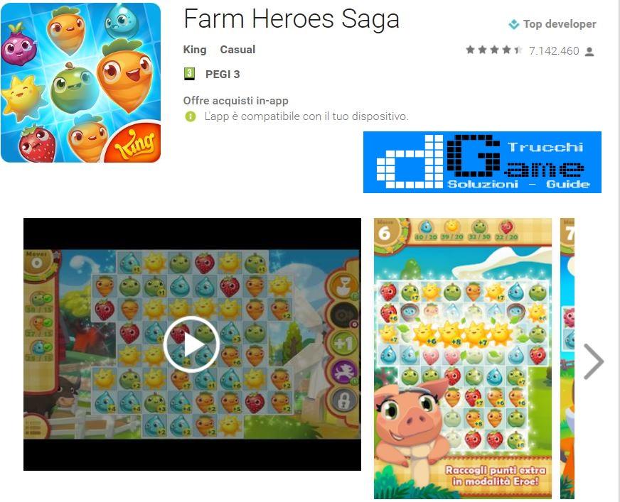 Trucchi Farm Heroes Saga Mod Apk Android v2.69.23
