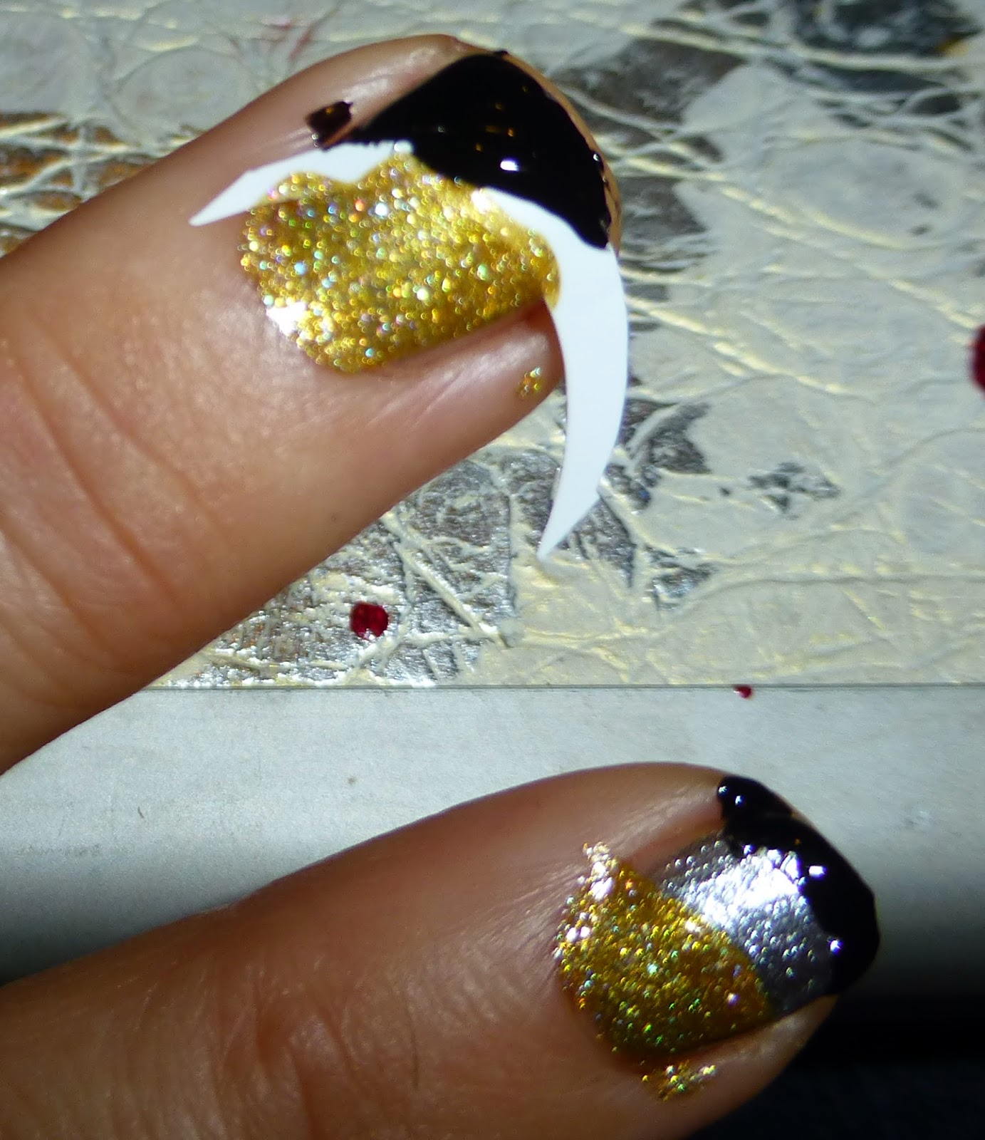 Orly Liquid Vinyl and Milani 3d Holographic 510