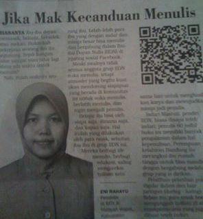Citizen Reporter_Eni Rahayu: Jika Mak Kecanduan Menulis [Terbit di Harian Surya Edisi Selasa, 13 Desember 2016]