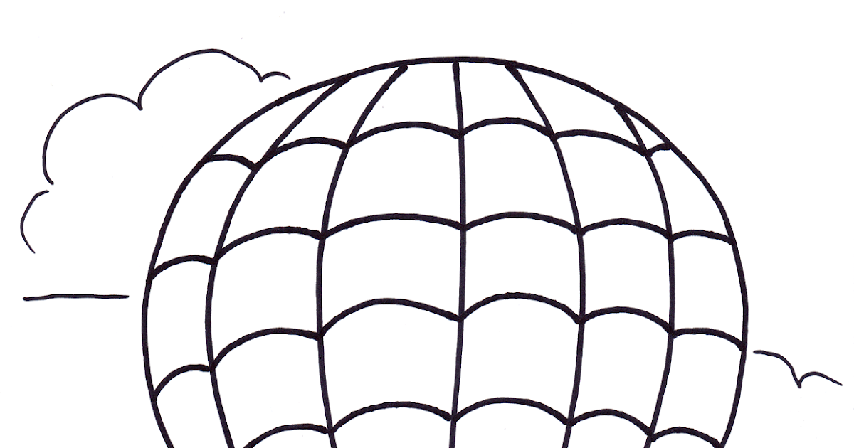 Coloring Transportation For Toddlers: Hot Air Balloons