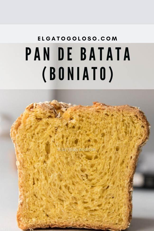 como hacer pan de batata (boniato) facil y rapido. Receta elgatogoloso.com. Food Photography Bread