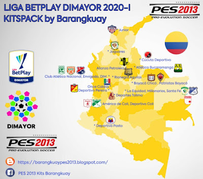 Kitpacks Liga Betplay Dimayor 2020-21 For PES 2013