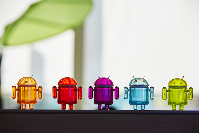 Android figurines in an official Google stock photo. Source: Google.