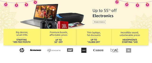 Amazon Great Indian Festival From 25th September, 2019 Offers and deals 1