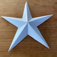 tuto de fabrication d'une étoile en papier
