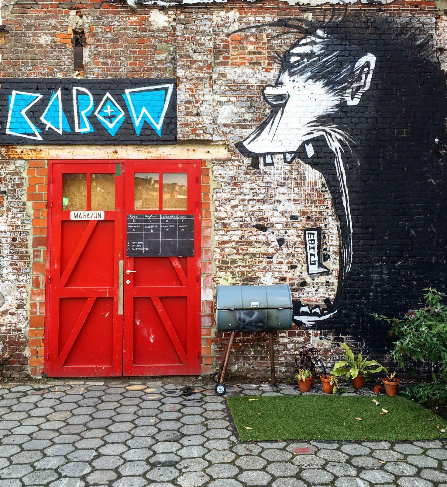 Le Chameau Bleu - Escapade à Gand en Belgique - Street art dur Gand