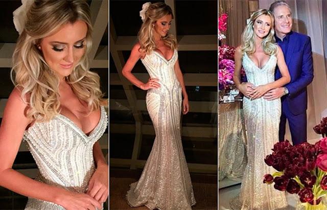 Vestido de noiva Ana Paula Sibert, feito pelo estilista Samuel Cismansk