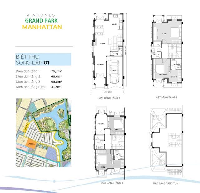 mẫu thiết kế biệt thự song lập Manhattan Quận 9