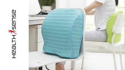 HealthSense Soft-Spot BC 21 Orthopedic Backrest Cushion with Lumbar Support for Back Pain Relief