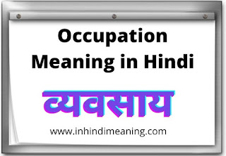 Occupation Meaning in Hindi 10+Best example in Hindi Meaning, Occupation Meaning in Hindi, Occupation Meaning