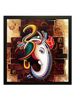 Beautiful Home Decor Ganesha Painting