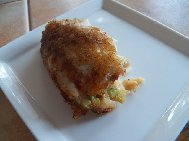 Sole with Crab Cake Stuffing