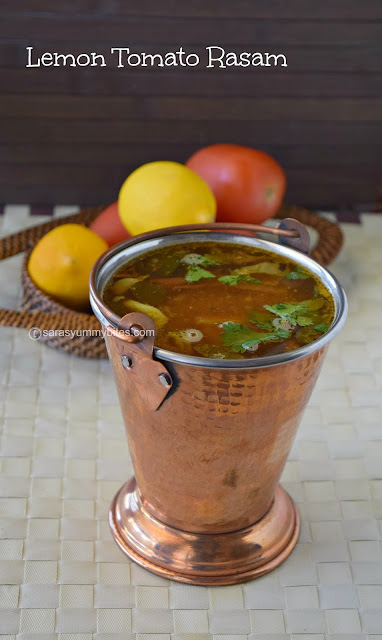 Elimichai Thakkali Rasam /எலுமிச்சை தக்காளி ரசம் / Lemon Tomato Rasam with out Tamarind and Dhal